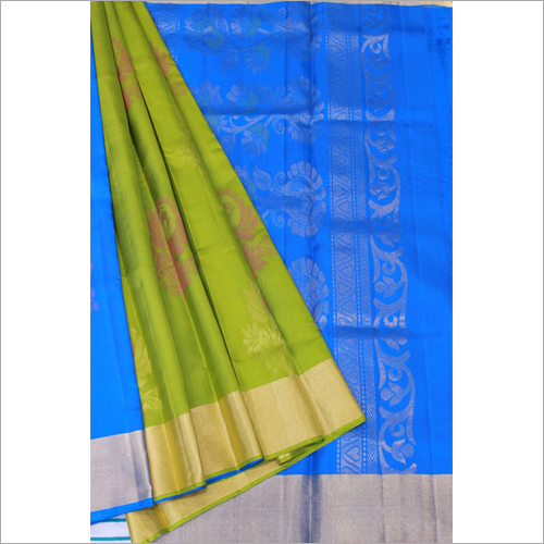 Green Blue Partly Putta Soft Silk