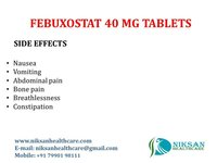 FEBUXOSTAT 40 MG TABLETS