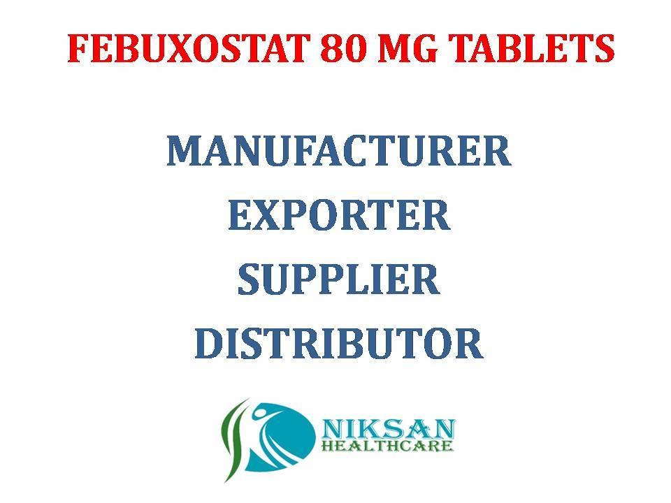 FEBUXOSTAT 80 MG TABLETS