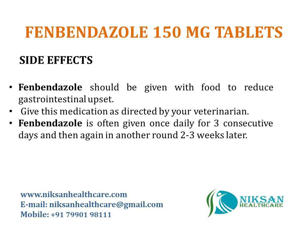 FENBENDAZOLE 150 MG TABLETS