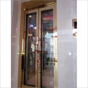 Glass Door With Rose Gold Finish Cabin