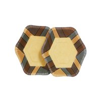 Wooden Hexa Plate