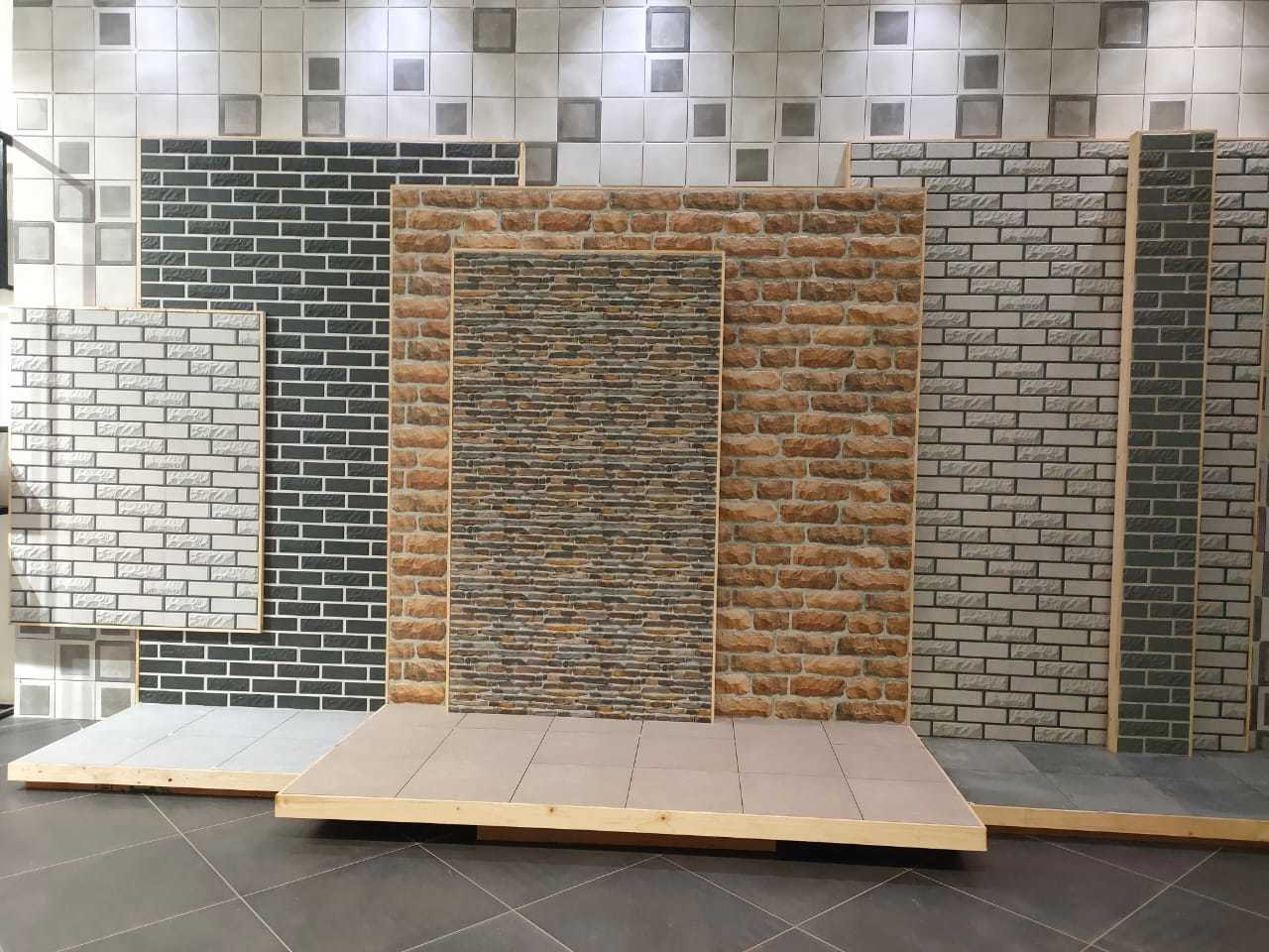 30x60 Porcelain Body Stone Elevation Wall Tiles