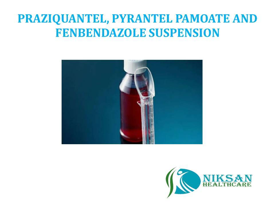 PRAZIQUANTEL, PYRANTEL PAMOATE AND FENBENDAZOLE SUSPENSION