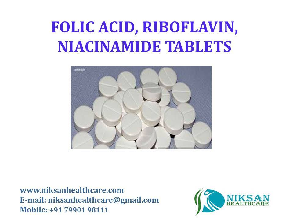 FOLIC ACID, RIBOFLAVIN, NIACINAMIDE TABLETS