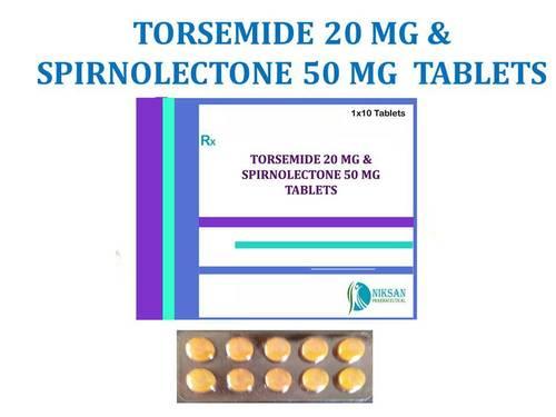 TORSEMIDE  20MG & SPIRONOLECTONE 50MG  TABLETS