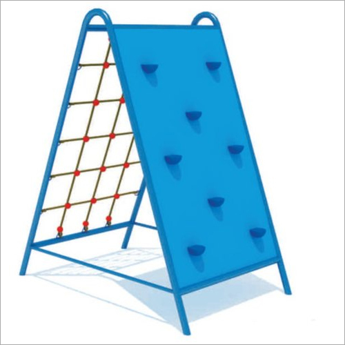 Net And Rock Playground Climber