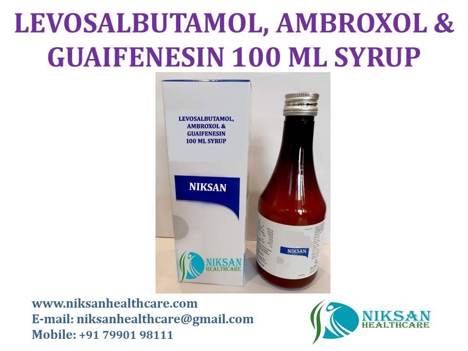 LEVOSALBUTAMOL, AMBROXOL & GUAIFENESIN 100 ML SYRUP