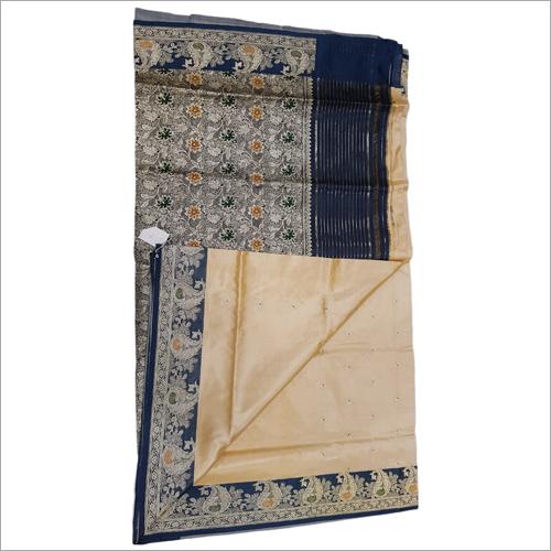 Ladies Blue Corial Silk Saree