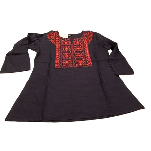 Ladies Cotton Ikkat Tops