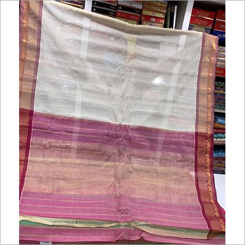 Ladies Cotton Gadwal Saree