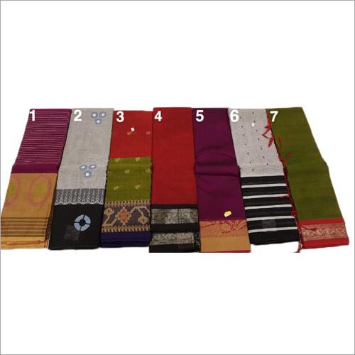 Ladies Cotton Hyderabadi Saree
