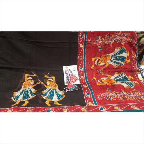 Ladies Fancy Gheecha Silk Printed Saree