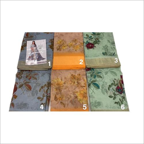 Ladies Fancy Jute Silk Printed Saree