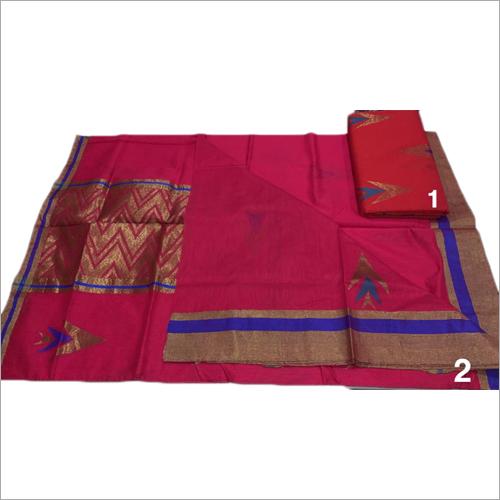 Ladies Fancy Chanderi Silk Work Saree