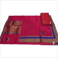 Fancy Chanderi Silk Work Saree