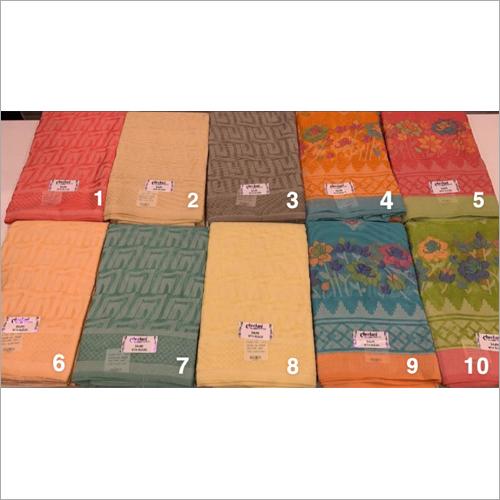 Ladies Fancy Linen-Organza Work Saree