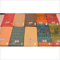 Fancy Linen-Organza Work Saree