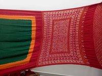 Pure Gajji Silk Bandhani Saree