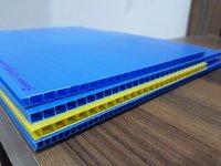 Blue PP Hollow Sheet