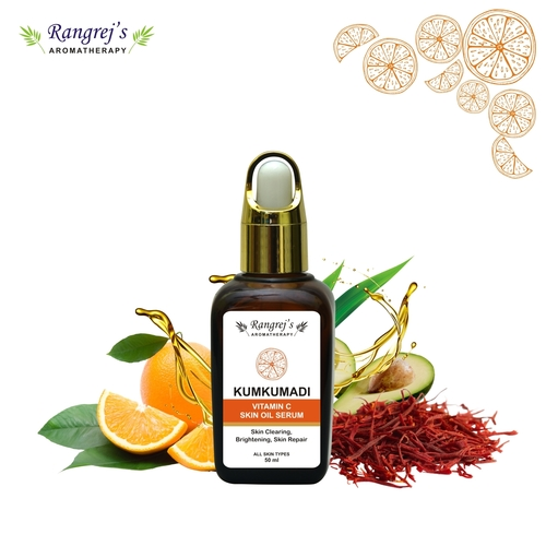 Rangrej's Aromatherapy Kumkumadi Vitamin C Skin Serum,for Skin Clearing,brightening & Skin Repair,all Skin Types  (50 Ml)