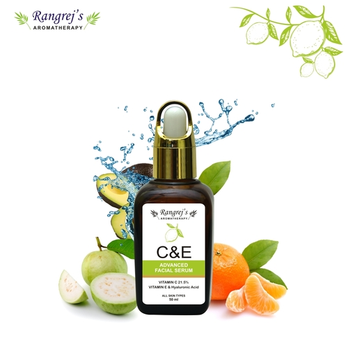 Rangrej's Aromatherapy C & E Advanced Facial Serum With Vitamin C 21.5%,vitamin E & Hyaluronic Acid,all Skin Types  (50 Ml)