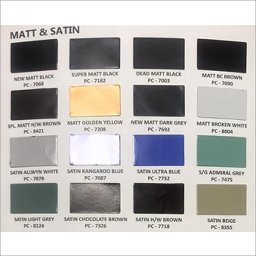 Matt and Satin Paint
