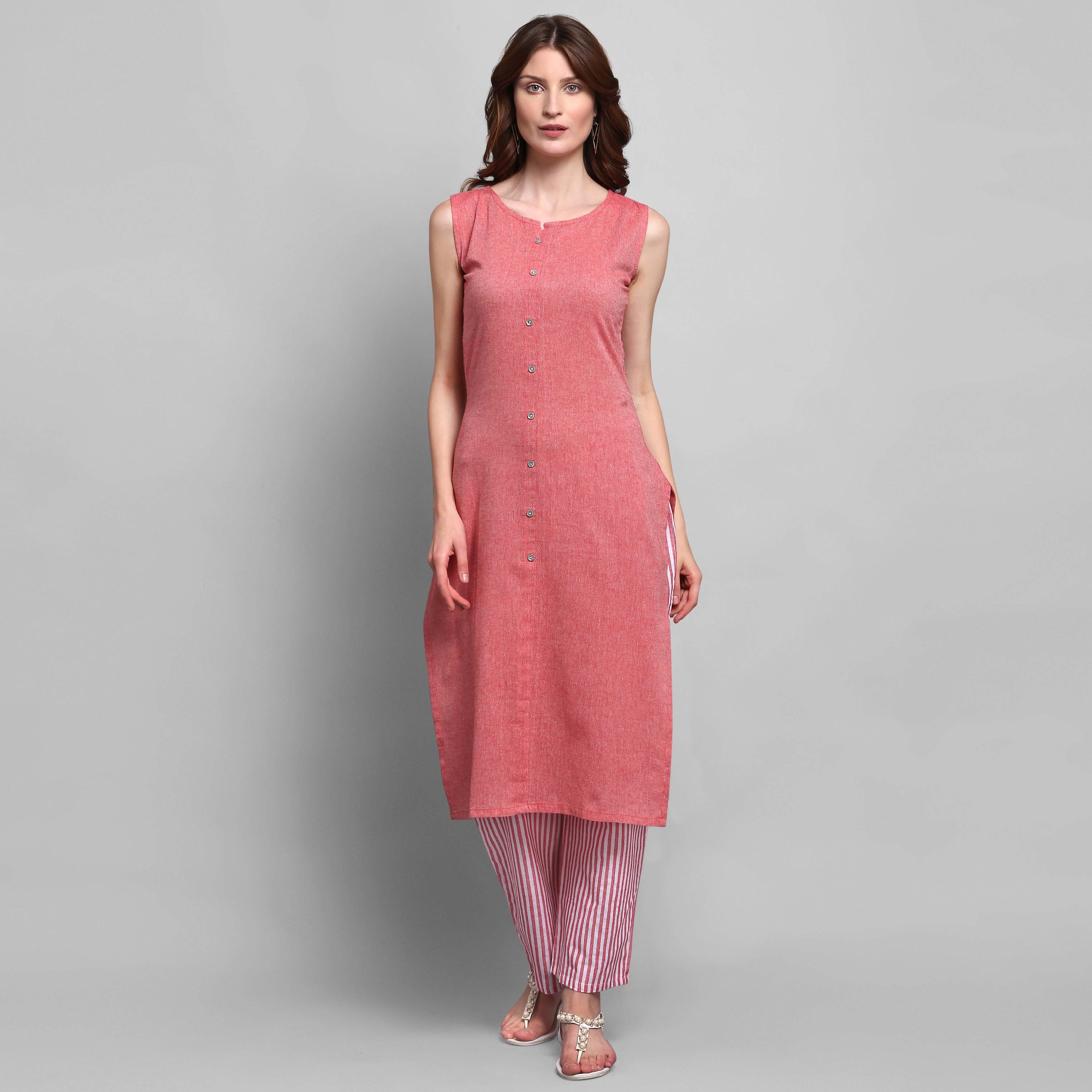 Women Cotton Kurta With Plazzo