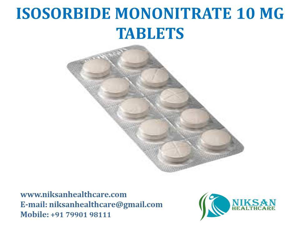 ISOSORBIDE MONONITRATE 10 MG TABLETS