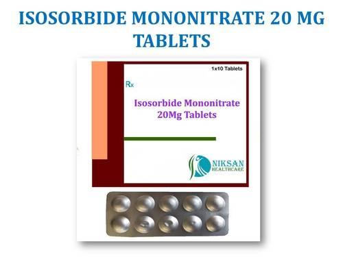 ISOSORBIDE MONONITRATE 20 MG TABLETS