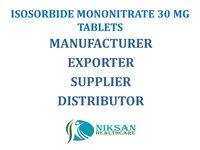 ISOSORBIDE MONONITRATE 30 MG TABLETS