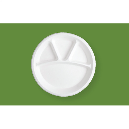 12'' 4 Compartment Round Plate