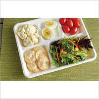 5 Compartment Bio degradable Bagasse Tray