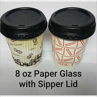 250 ml Double Wall Paper Cup With Sipper lid