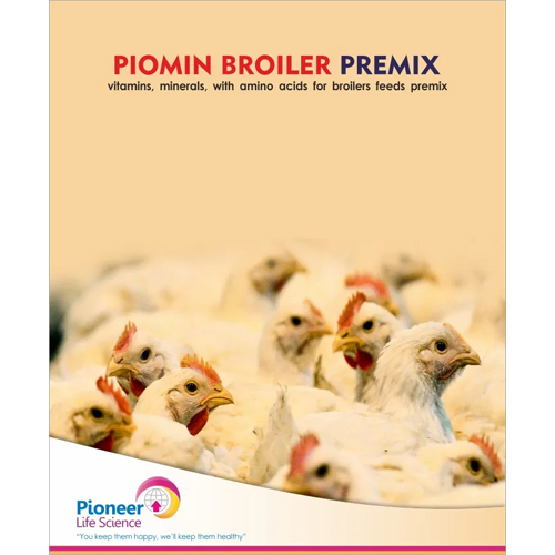 Piomin Broiler Premix Vitamins Minerals With Amino Acids For Broilers Feeds Premix