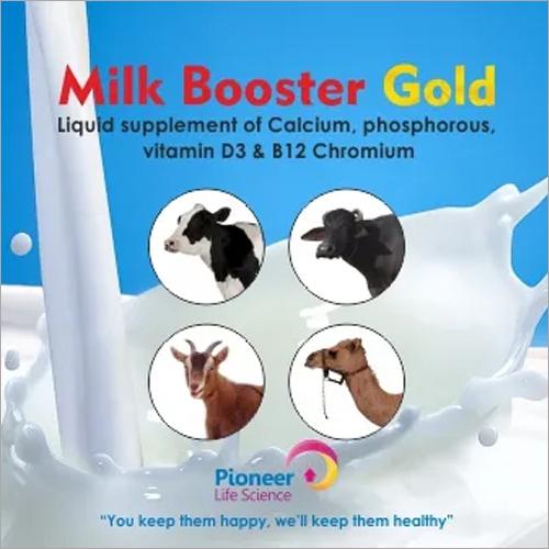 Milk Booster Gold Liquid Supplement Of Calcium Phosphorous Vitamin D3 & B12 Chromium
