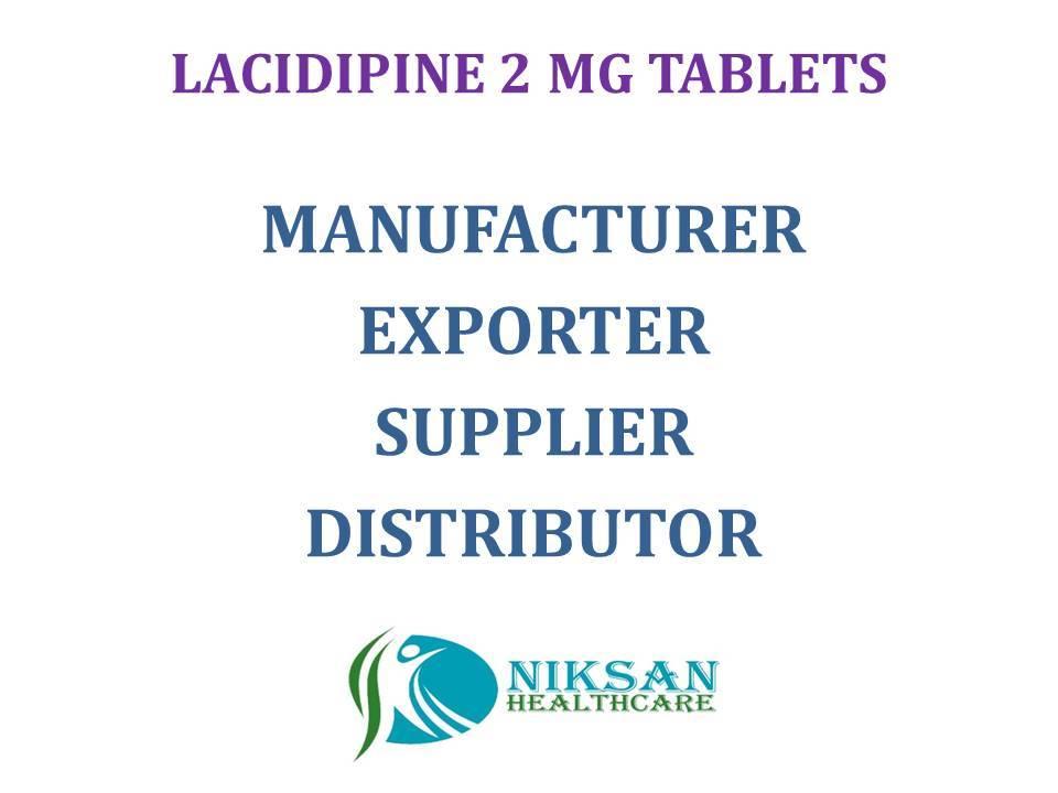LACIDIPINE 2 MG TABLETS