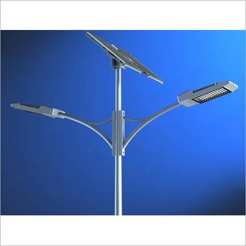 Double Arm Solar Street Light pole