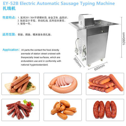 Ey-52b Electric Automatic Sausage Typing Machine