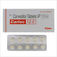 12.5mg Carvedilol Tablets IP