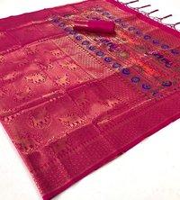 Pure Soft Silk Meenakari Pallu