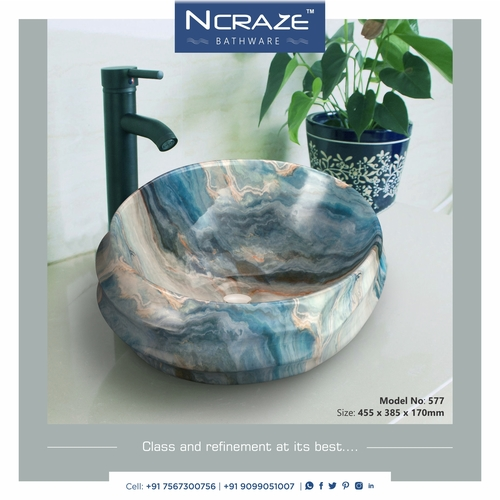 Round shape Table top basin