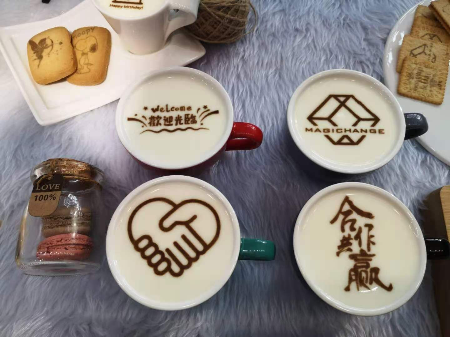 3D coffee painting drawing machine
