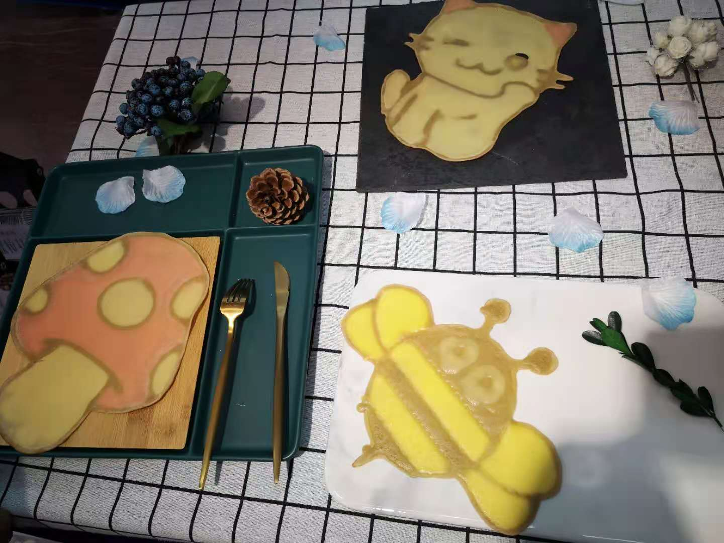 Automatic 3D Cake cookie biscuits picturing drawing machine