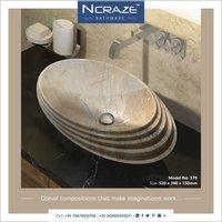 Ship shape cream wash basin