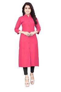 Women cotton solid kurta