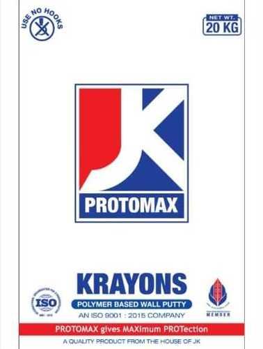 Jk Protomax Wall Putty Size 20 Kg Price Range 400 00 450 00 Inr Bag Id C6522337