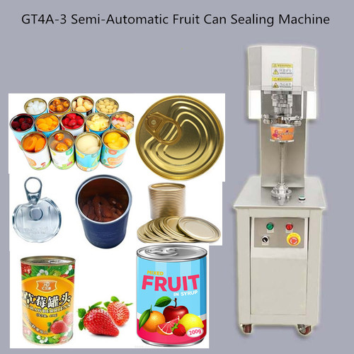 GT4A-3 Semi Automatic Fruit Can Sealing Machine