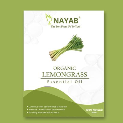 Organic Lemongrass Essential Oil Age Group: All Age Group