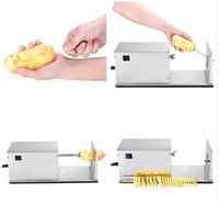 Neweek New Manual Stainless SNeweek New Manual Stainless Steel Tornado Spiral Potato Chips Tornado Potato Cutter Twister Sliceteel Tornado Spiral Potato Chips tornado potato cutter Twister Slice